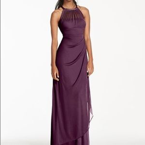 Lilac purple Bridesmaid Dress:Davids Bridal F15662